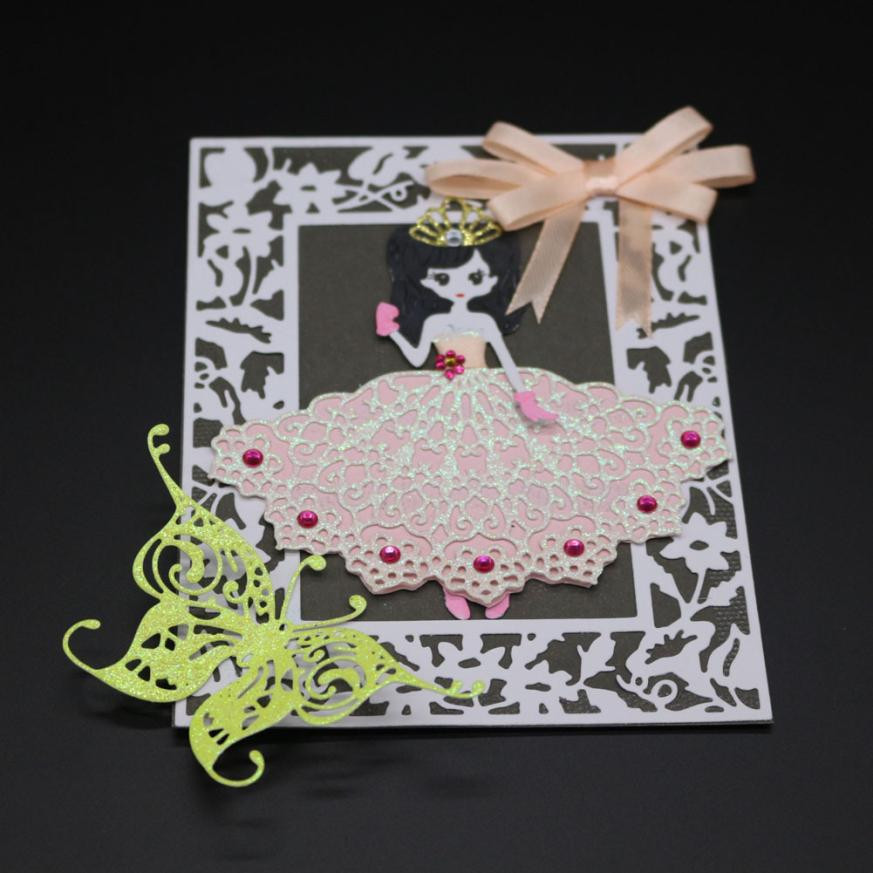 Flower Heart Metal Cutting Dies Stencils DIY Scrapbook Album Paper Card Craft