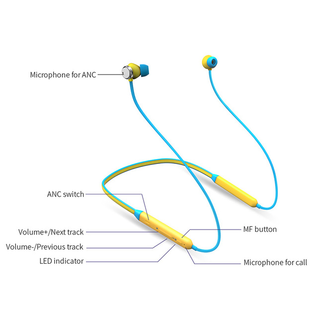Bluedio TN Active Noise Cancelling Sports Bluetooth Earphone/Wireless Headset for phones and music Phone Earphones & Headphones