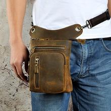 Натуральная кожа, мужская сумка на бедро, мотоциклетная сумка-мессенджер, Воловья кожа, поясная сумка, Мужские поясные сумки, чехол для телефона