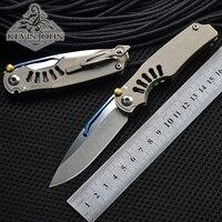 kevin john Tilock Folding knife high quality outdoor knives Titanium handle M390 pocket Knife survival Tactical EDC tools
