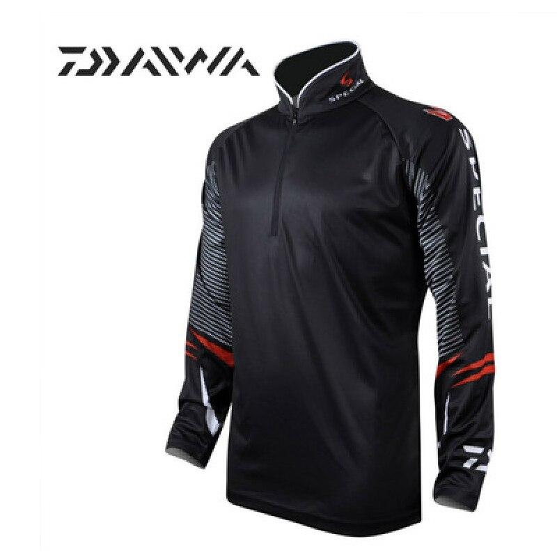 Prix pour 2017 Nouveau DAIWA Btand de pêche vêtements chemise à séchage rapide UV solaire respirant à manches longues vêtements de pêche CD451
