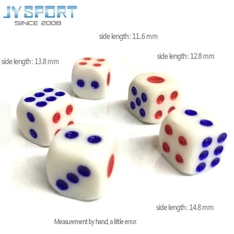 10pcs/lot Wholesale 6 Sided Casino Polyhedral Dice  Set 14mm Number Bar Games Funny Toy Cube Gamble Dice