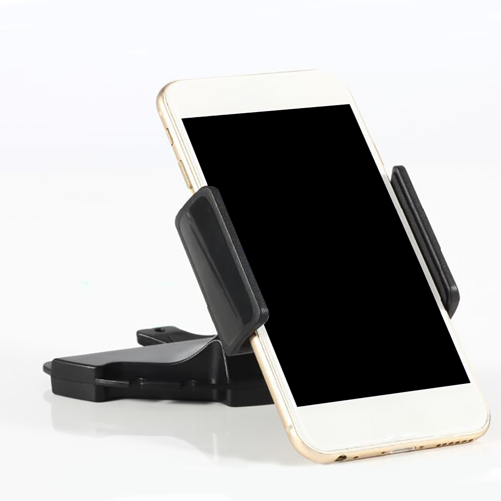 Auto Telefon Halter Halterung Dreh Fahrzeug Schwarz Gps Stand Mode Navigation Unterstützung Für Tabletten Cd Mund Montiert Anti Slip
