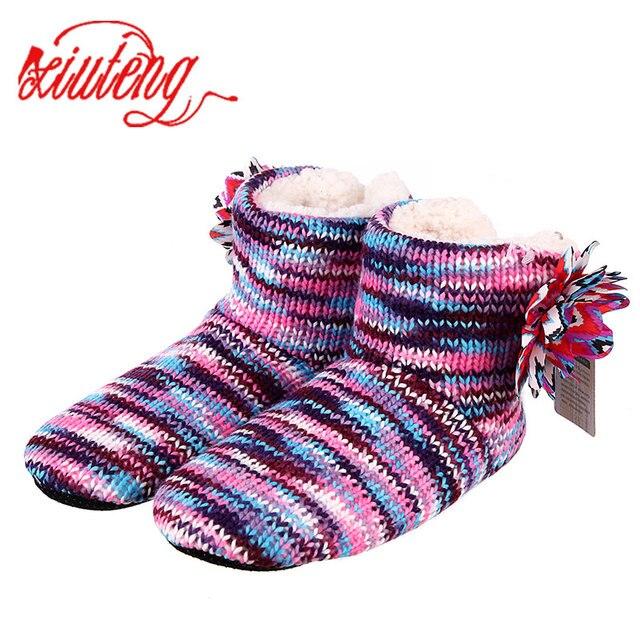 Xiuteng Inverno Caldo Pantofole Per Adulti Uomini E Donne di Inverno Pantofola Domestici Morbido Non-Slip Addensare Peluche Piano Casa Coperta scarpe