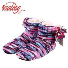 Xiuteng зима теплая Тапочки взрослых Для мужчин и Для женщин зимние бытовой тапочки мягкие Нескользящие утепленные плюшевые домашние тапочки обувь для помещения