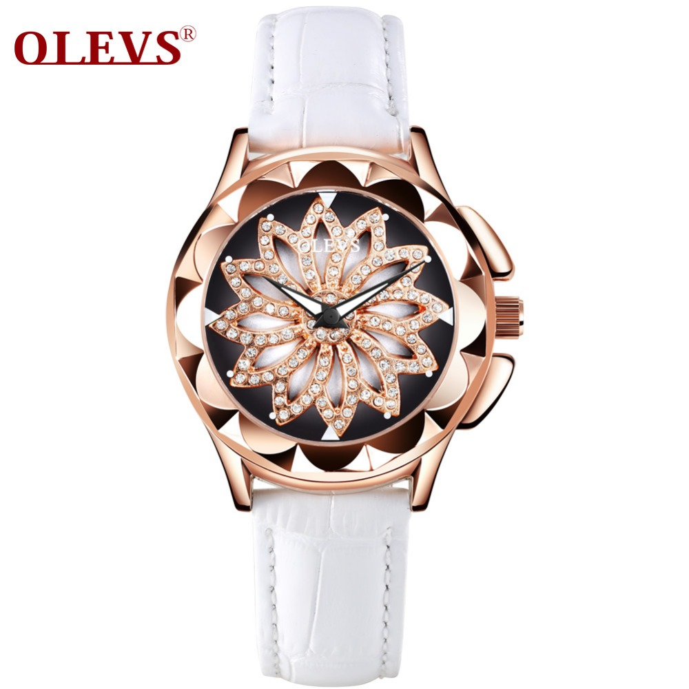 OLEVS 5873 Luxury hollow out Dial Watch Women Luminous Hands Golden Quartz watches Leather Wristwatch Ladies Clock Reloj Mujer olevs 5873 luxury hollow out dial watch women luminous hands golden quartz watches leather wristwatch ladies clock reloj mujer