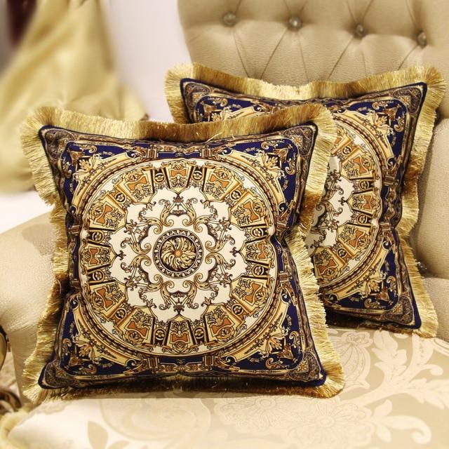 European Luxury High End Sofa Cushions Queen Bed Pillow Back Cushion Car  Cushion Against Sheath