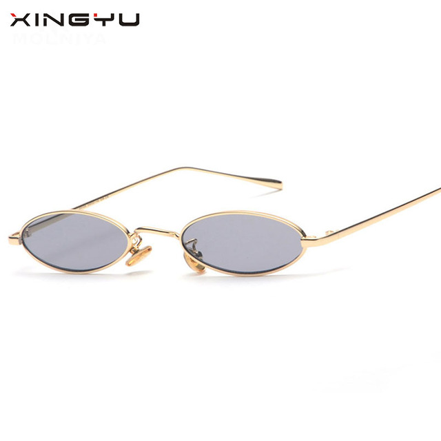 Small Slim Oval Sunglasses Women Brand Designer Retro Clear Lens Sun Glasses Shades rw5rlVXsRj