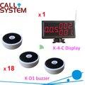 Система вызова медсестры 1 счетчик станции дисплей номера 18 колоколов для пациента/пожилых использовать доставка бесплатная