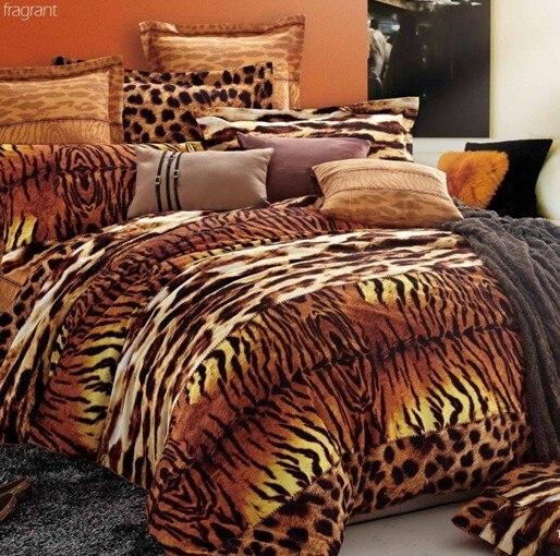 couvre lit motif leopard imprimé léopard tigre douillette ensemble de literie queen roi  couvre lit motif leopard