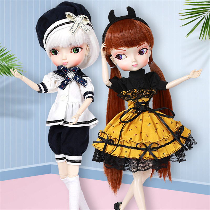 Free Shipping 35cm Jimusuhutu SD BJD Fashion Girl Dolls 1/6 Ball Joint Resin Kit Pretty Gril Doll Classic Gift Toy for Girl