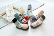 2017 New Winter Baby Socks Newborn Baby Cute Anti slip Rubber Sole Shoes Socks Children Indoor Slip-resistant Warm Floor Socks