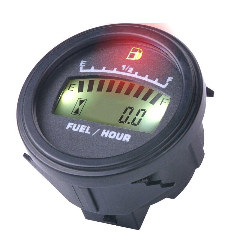 LCD Fuel Gauge DC Powered For Motorcycle Jet Ski Marine Pit Bike Motorbike Generator Engine FM001