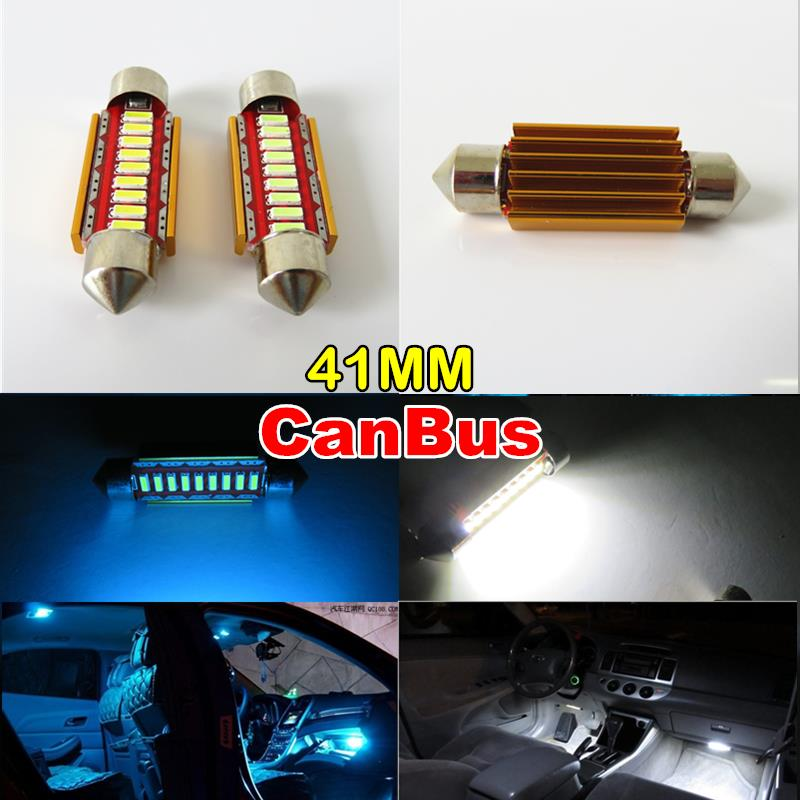 2x 36mm 5w CREE CAN BUS OBC ERROR FREE AUDI VW C5W 272 SV8 interior light DOME