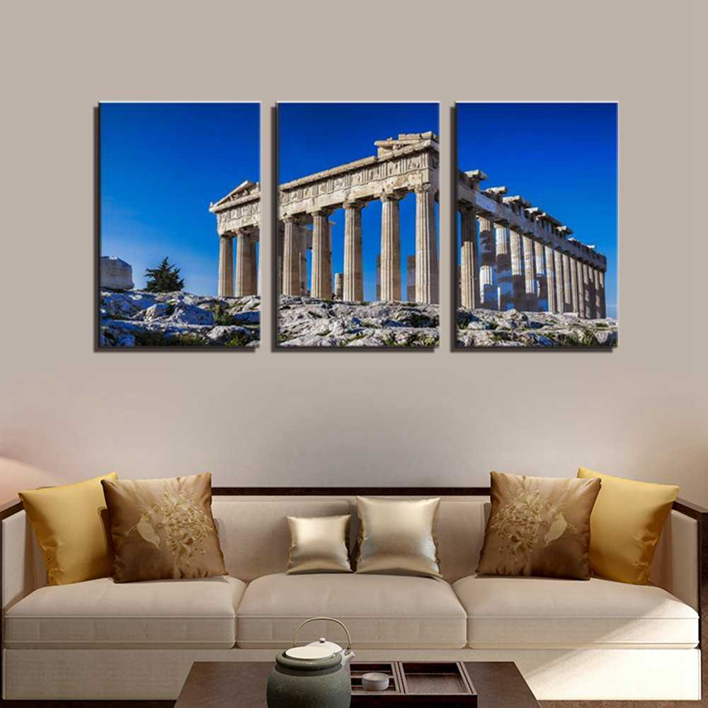 Acropolis greece landscape picture wall art canvas printed beautiful panoramic poster painting for home office room wall decor