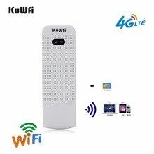 KuWfi разблокирована 4 г WI-FI маршрутизатор USB Беспроводной WI-FI модем LTE Беспроводной USB сети Hotspot ключ с Сим слот для карт