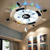 Mediterranean rudder, ceiling lamp, creative lighting, boy room, personality cartoon, children's lamp, girl room, bedroom lamp