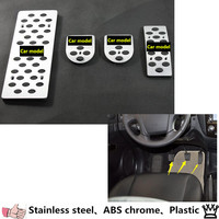 Kia Sportage Car Styling Cover Alloy Aluminium Covers Foot Gas Brake Rest Pedal MT As Your