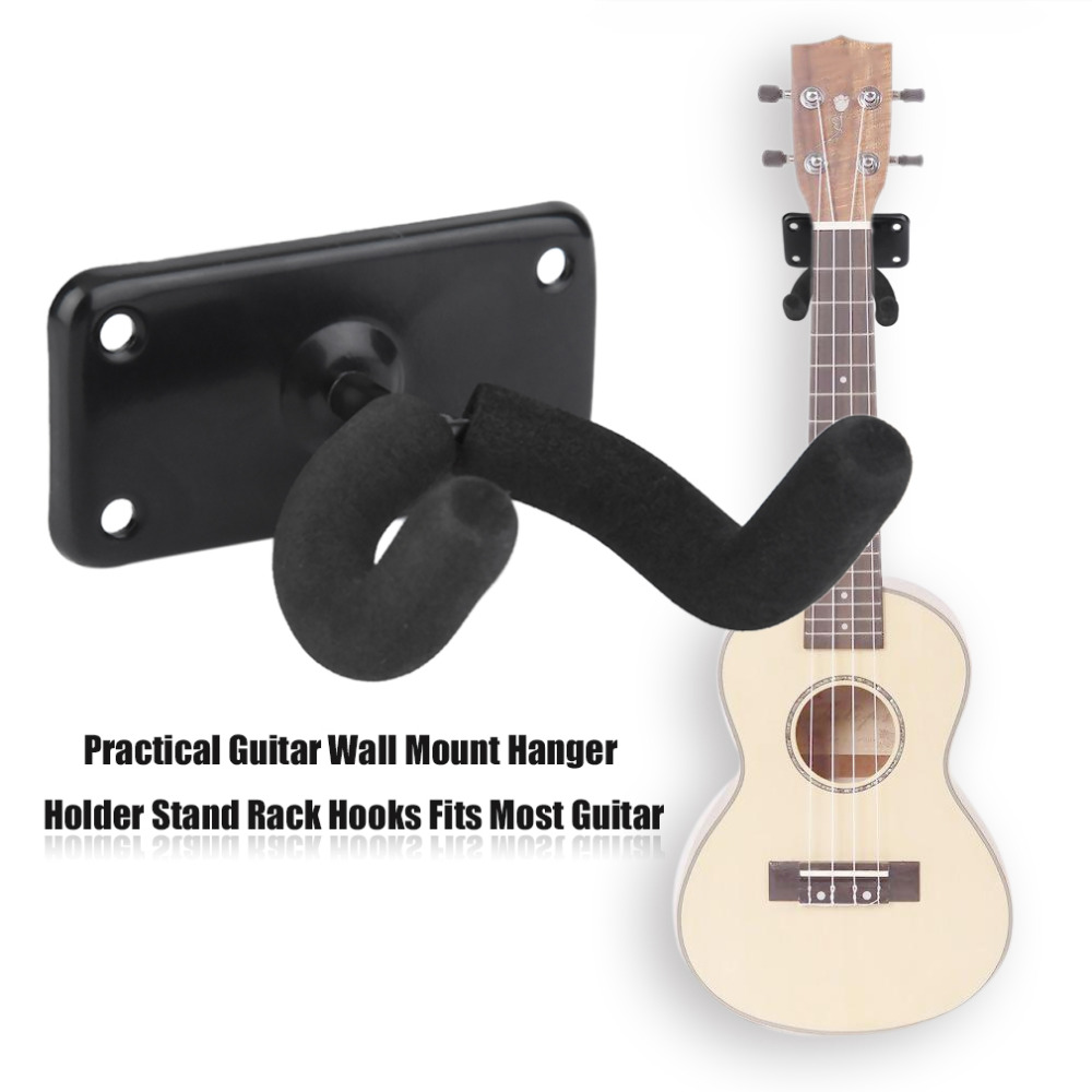 practical guitar wall mount hanger holder stand rack hooks fits most guitar new arrival in. Black Bedroom Furniture Sets. Home Design Ideas