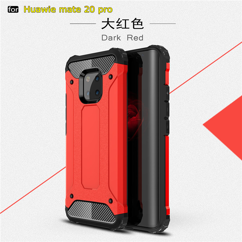 Hybrid PC Silicone Heavy Duty Armor Back Case For Huawei Mate20 Lite Mate 20 Pro
