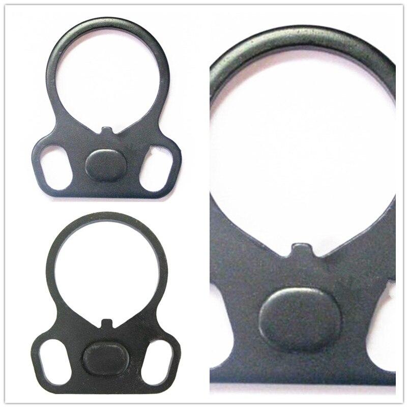 Caza AR End Plate Oval Dual Loop Sling adaptador derecha / izquierda Handed mont