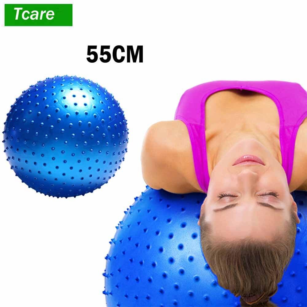 1 pièces Massage du corps Relaxation 55 cm grande balle Anti rafale Yoga Pilates pour la stabilité exercice entraînement Gym balles antidérapantes