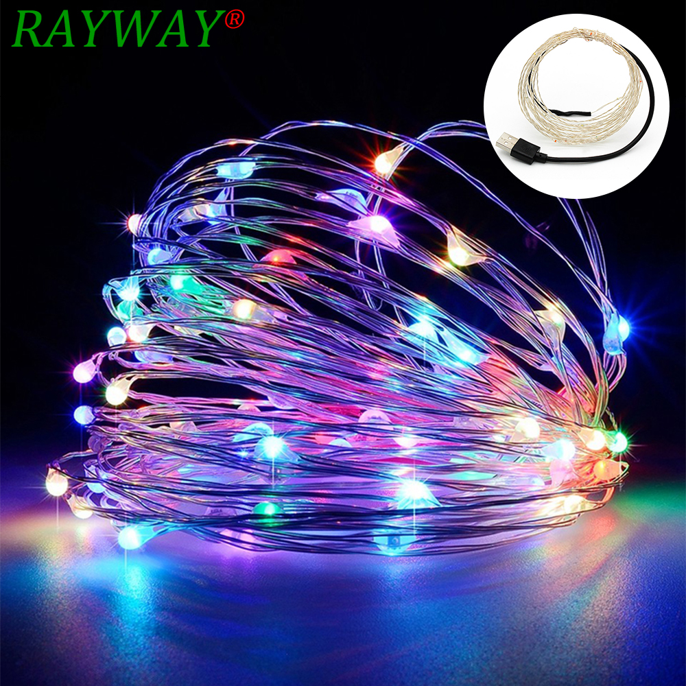 Usb Garland 10M LED Copper Wire String Holiday Outdoor Fairy Lights For Christmas Party Wedding Decoration