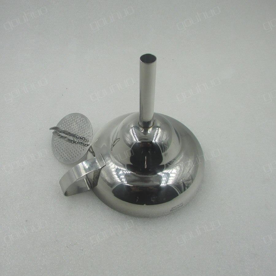 Tryska z nerezové oceli 304 z nerezové oceli nálevkový olej prosakování Víno Únik vína Pásový filtr s velkým průměrem pro domácnost