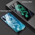 Светящийся чехол из закаленного стекла для Xiaomi Mi 9 мягкая силиконовая рамка задняя крышка для Xiaomi Mi9 Mi 9 SE 9T pro mi8 lite чехлы для телефонов