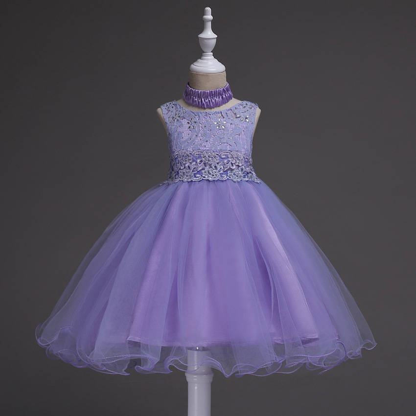 Flower Princess Girl Dress Pageant Children Frocks Formal Designs Dresses For Teenage Girls Wedding Party 2-14 Years