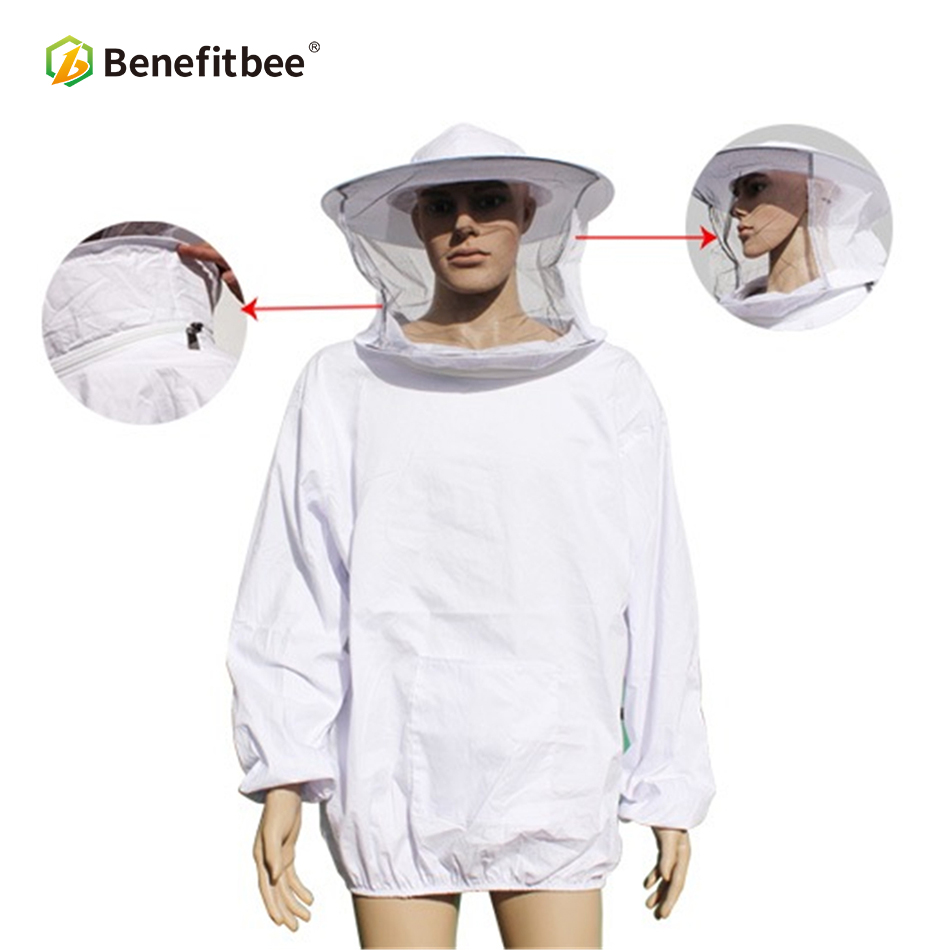 Benefitbee Beekeeping Tools Bee Suit Beekeeper Clothes Jacket For Beekeeping Suit Protective Beekeeping Equipment ApicultureBenefitbee Beekeeping Tools Bee Suit Beekeeper Clothes Jacket For Beekeeping Suit Protective Beekeeping Equipment Apiculture
