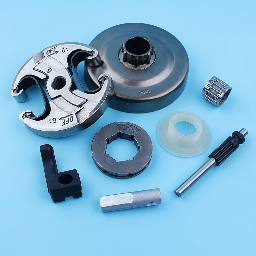 .325 8T Clutch Drum Needle Bearing Rim Sprocket Oil Pump Kit For Jonsered CS 2141 2145 2150 Chain Saw sprocket rim drum