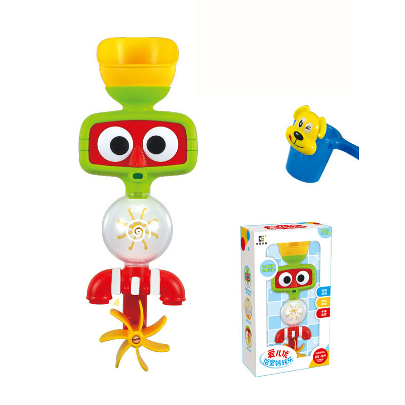 Baby Bath Toys Children Shower Waterwheel Faucet Bath Learning Gifts ...