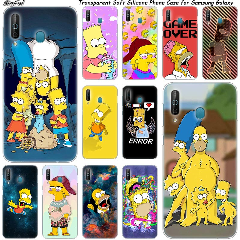 Hot Homer Simpson <font><b>Silicone</b></font> Phone <font><b>Case</b></font> For <font><b>Samsung</b></font> Galaxy A80 <font><b>A70</b></font> A60 A50 A40 A40S A30 A20E A2CORE M40 Note 10 Plus 9 8 5 Fashion image