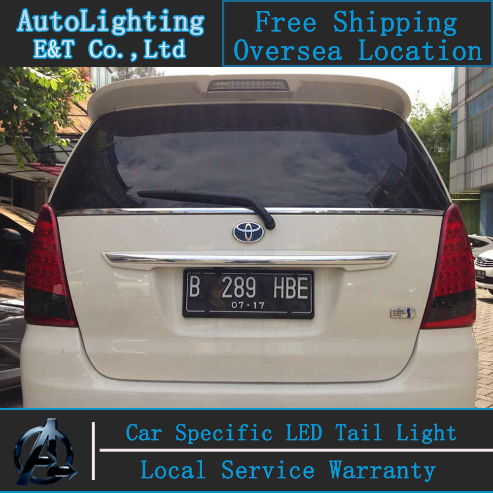 Auto Lighting Style LED Tail Lamp for Toyota Innova tail lights 2012 US version rear trunk lamp cover drl+signal+brake+reverse