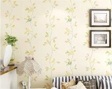 beibehang Pastoral Romantic Flower Modern Chinese Wallpaper Bird Bedroom Living Room TV Background 3d tapety