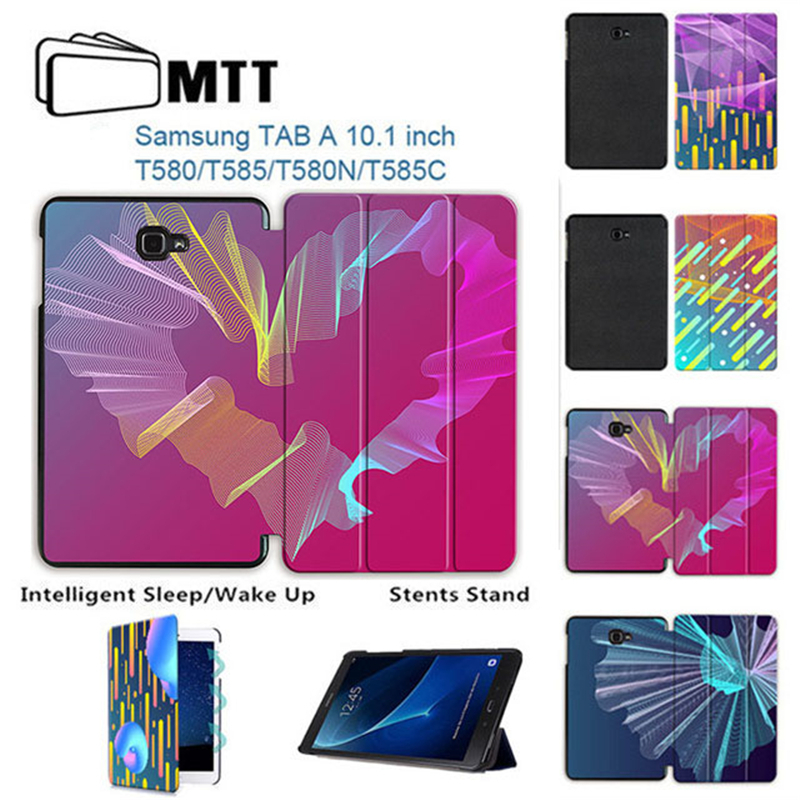 MTT Tablet leather cover SM-T585 SM-T580 for samsung galaxy tab A 10.1 T580 T585 2016 case for A6 10.1'' Creative Streak Cover цена