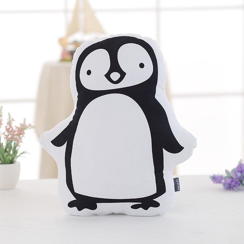 Hot Cute Penguin Whale Plush Toys Staffed Soft Cartoon Pillow Cushion for Kids Cotton Baby Room Decor Newborn Bed Doll