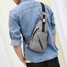 Chest Bag Hip Hop Sling Boys Tights Pack Small Men Crossbody Gray Inclined Shoulder Hiking Satchel Young Man Casual