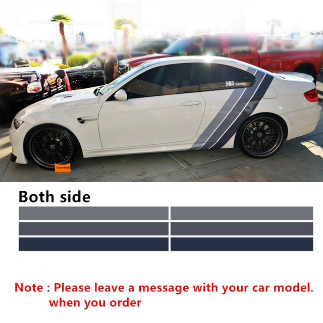 Car styling both side for bmw motorsport tricolor racing performance decals stickers car body decoration vinyl