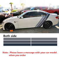 Car styling Both Side For BMW Motorsport Tricolor Racing Performance Decals Stickers Car body decoration Vinyl Stickers