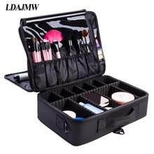 LDAJMW Tragbare Kosmetische Aufbewahrungsbox Reise Professionelle Make-Up Taschen Werkzeugkästen Maskenbildner Maniküre Schönheit Clapboard Box