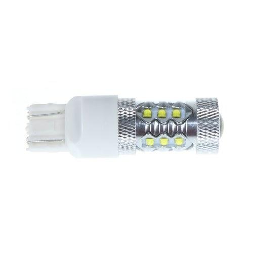 10x)  80W 7443 T20 16* XBD LED Car Tail Brake Stop Light Bulb Lamp White 2x t20 7443 13 smd led car white stop tail brake turn side light lamp bulb 12v