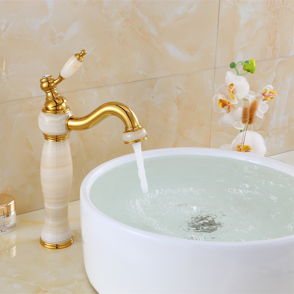 Image 3 - Free shipping Luxury New Natural Marble Decoration Bathroom Lavatory Basin Vessel Sink Mixer Tap XT 1003-in Basin Faucets from Home Improvement