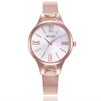 Top Brand Bracelet Watches Women Luxury Rose Gold Stainless Steel Wrist Watches Woman Quartz Watch Ladies Clock Gift Dropshiping womage origin luxury brand unisex watches rose gold case watch wrist relogios quartz women dress wristwatches day date clock