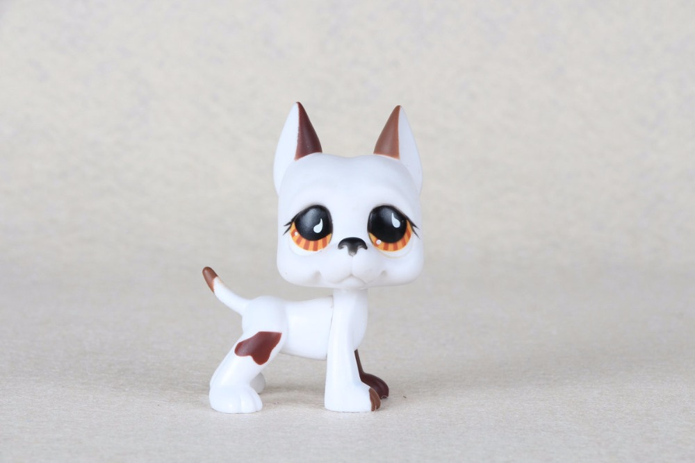 New pet Genuine Original LPS #750 Teardrop Eyes Great Dane Dog Kids Toys pet shop toys dachshund 932 bronw sausage dog star pink eyes
