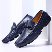 Swag Horsebit Loafers Male Urban Men Driving Shoes Luxury Brand Shoes Summer Men Shoes Blue White Black