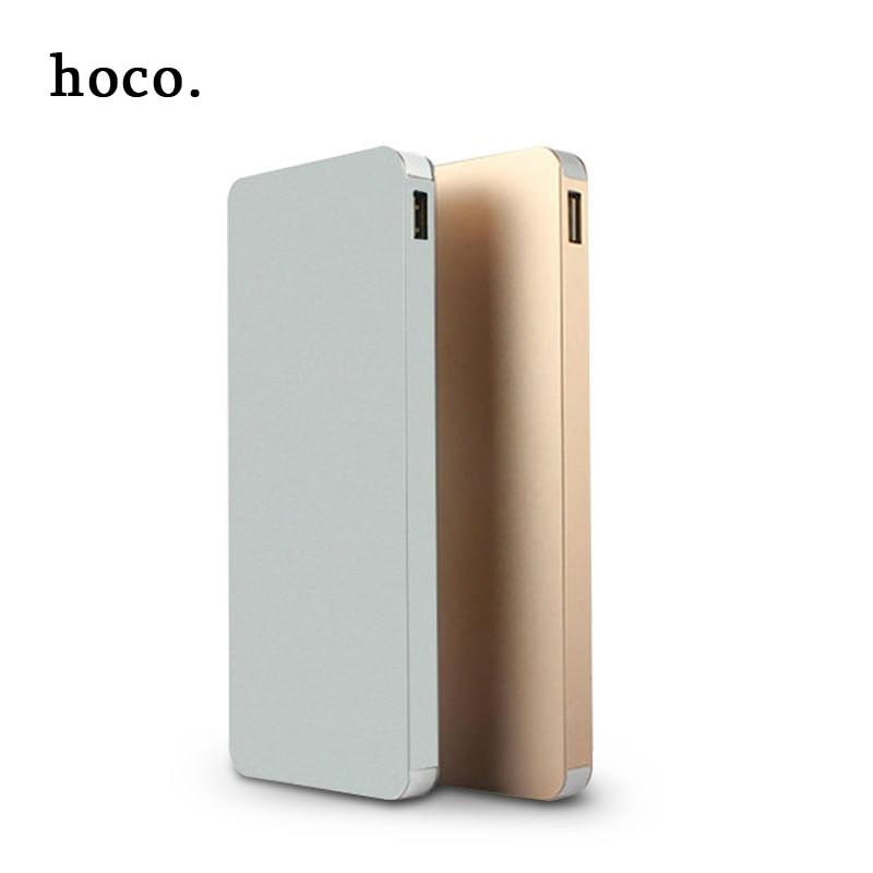 imágenes para Hoco 2017 de metal ultra delgado Banco de la Energía 12000 mAh Portátil Batería Externa del Cargador Dual USB Powerbank Para Todo el teléfono Móvil