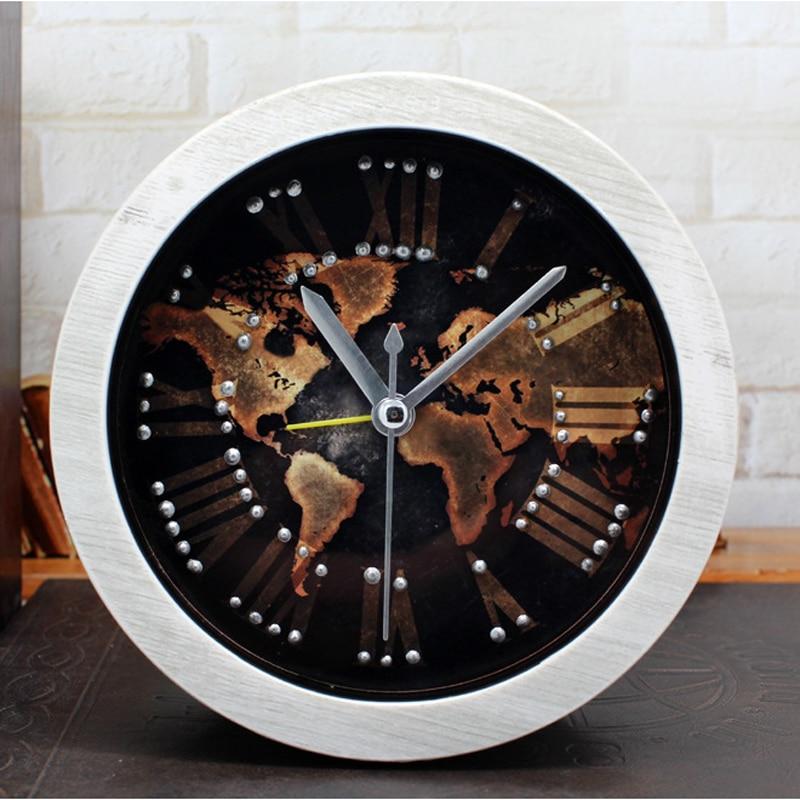 Alarm Clock Saat Reloj Despertador Desk Clock Relogio Digital clocks clocky Reloj despertador Retro 3D Stereoscopic Rivet mute