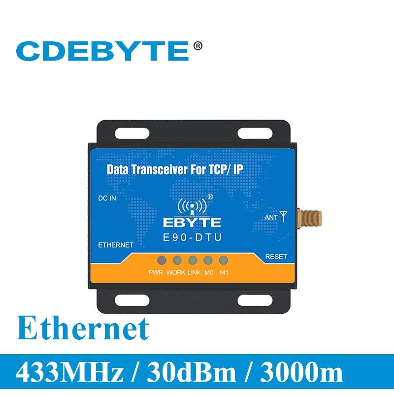 E90 DTU 433C30E Ethernet Modbus Long Range 433MHz 1W IoT uhf 3km Wireless Transceiver rf Module